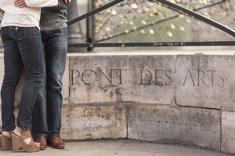 Pont Des Arts Paris Engagement Photography