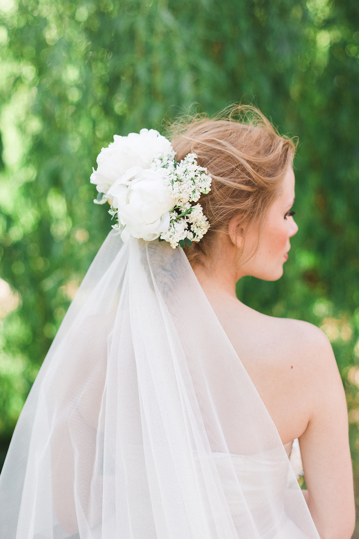 Floral Hair Accessory Bridal Veil