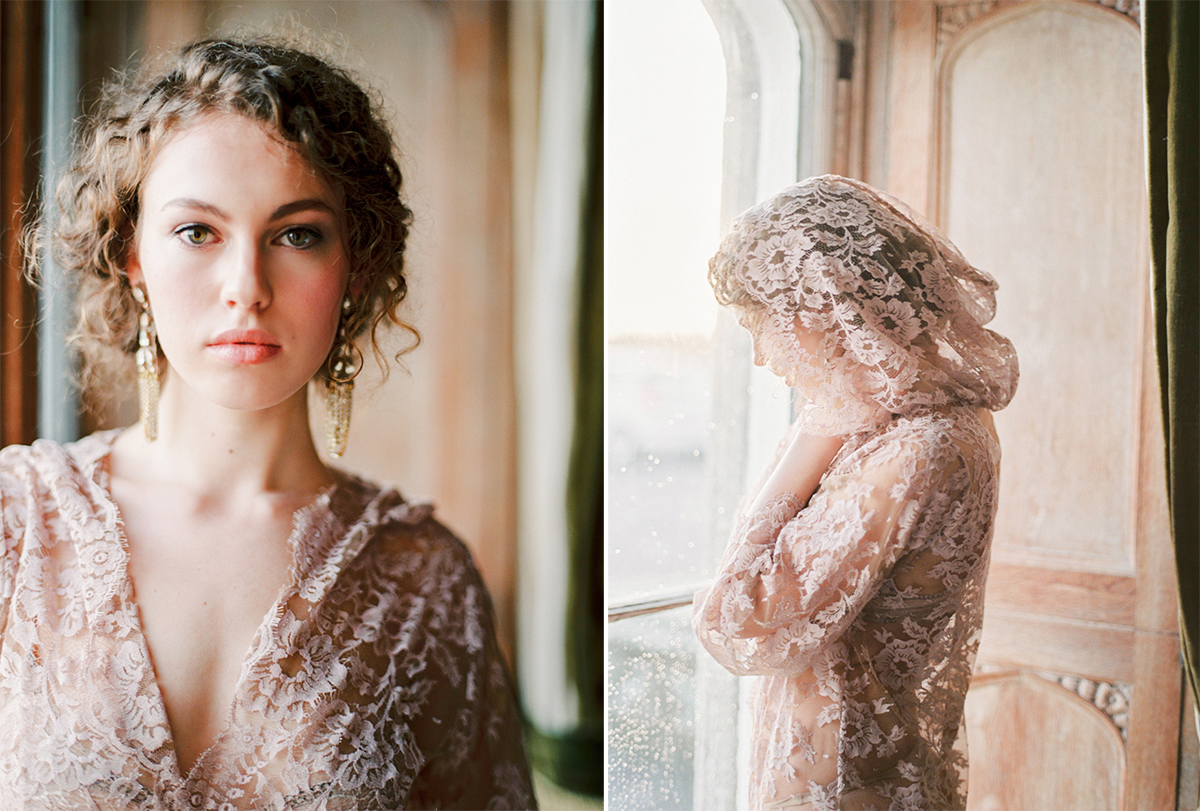Emily Riggs Bridal Lace Robe