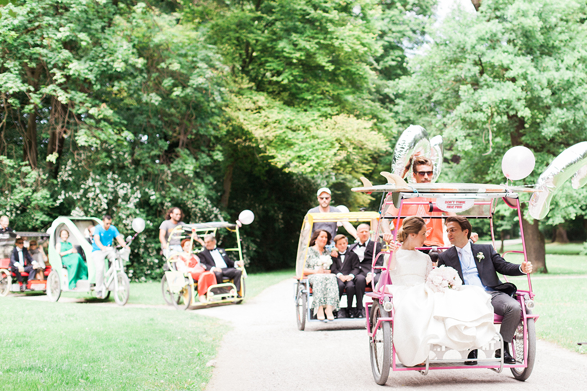 Rickshaws Wedding Transportation
