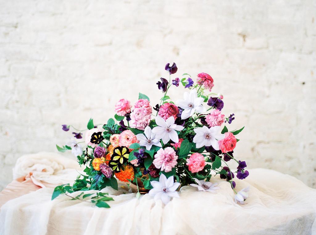 Floral Arrangement Sweet Pea Clematis
