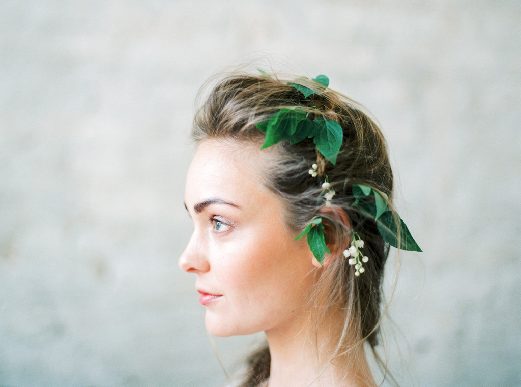 Flower Crown Alternative Wedding Hairstyle