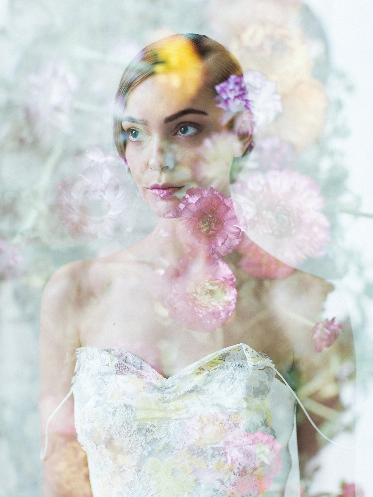 Double Exposure Photo Flowers