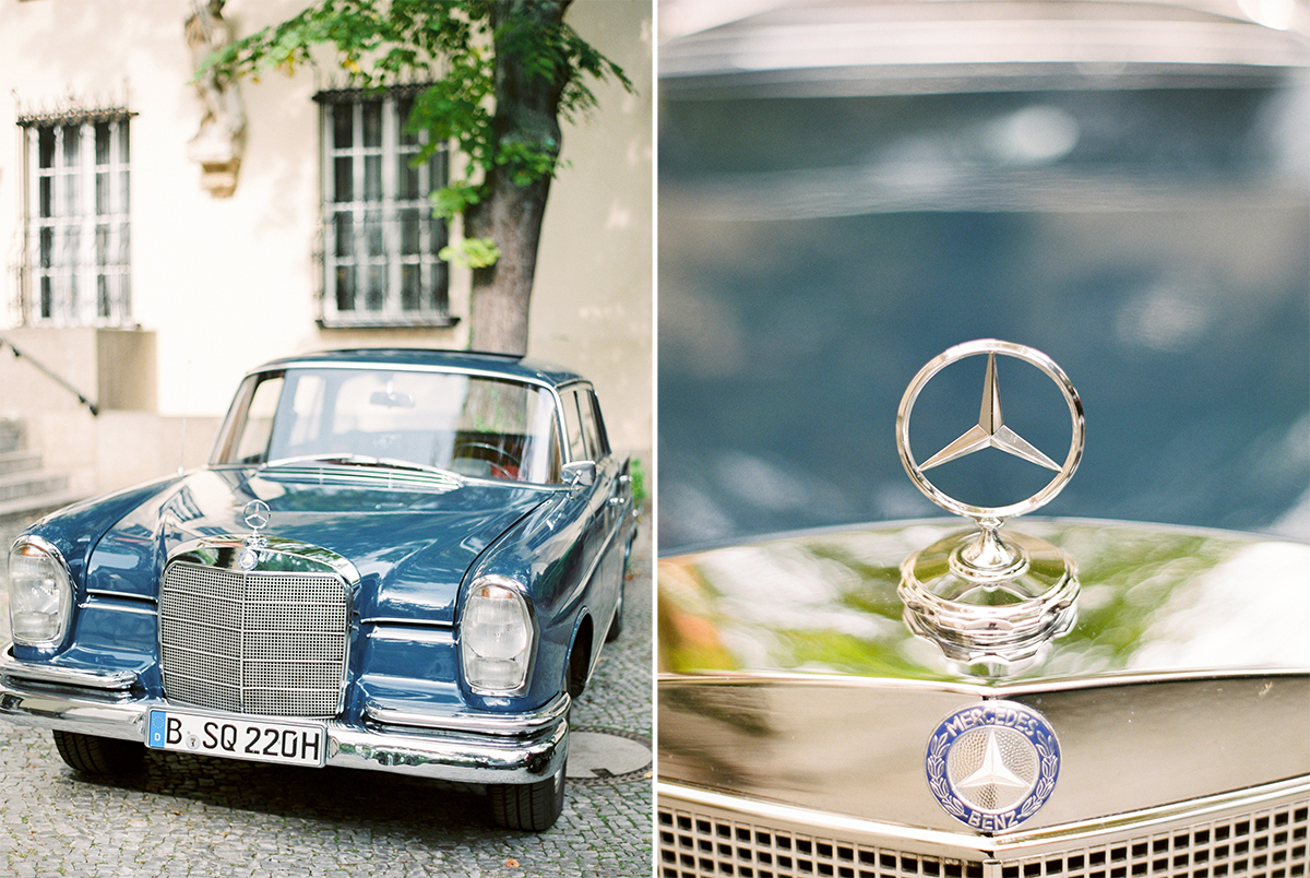 Vintage Mercedes Wedding Car