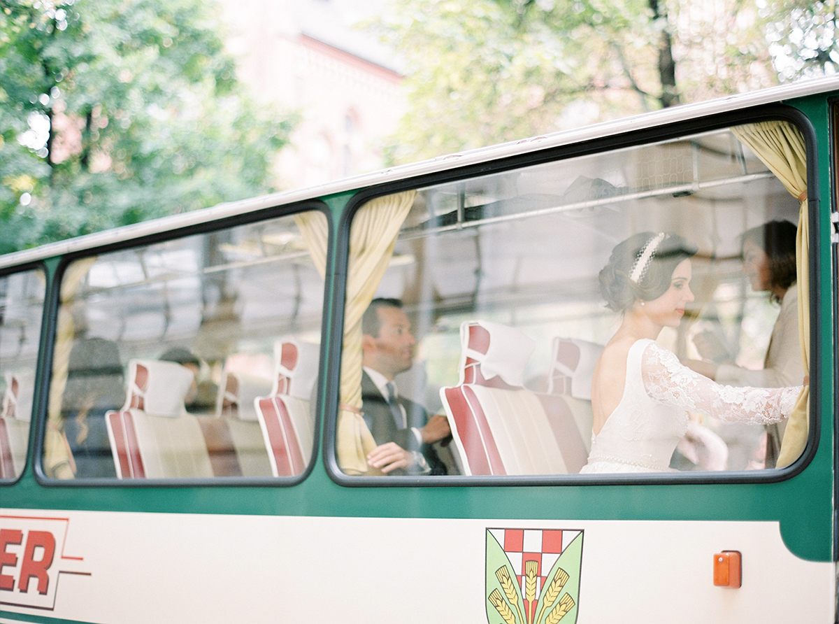 Vintage Bus as Wedding Transport in Berlin, Germany