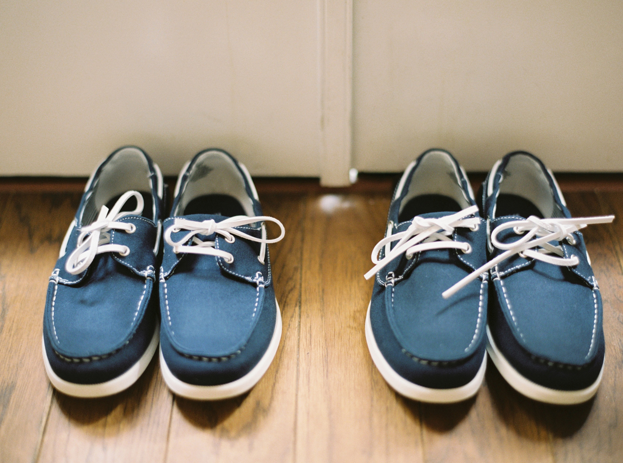 Grooms' Shoes on a Wedding Day