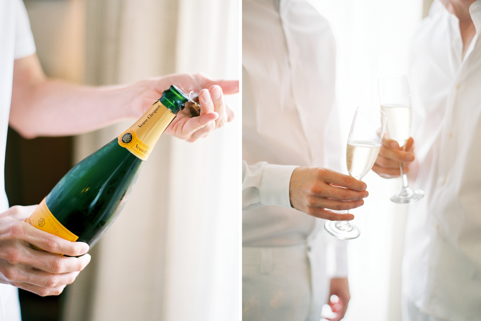 Veuve Clicquot Champagne on a Wedding Day