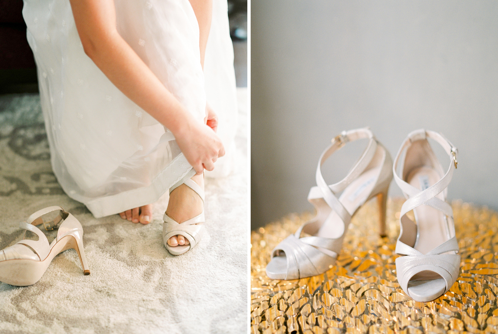 Bride Getting Ready with L.K. Bennett Shoes