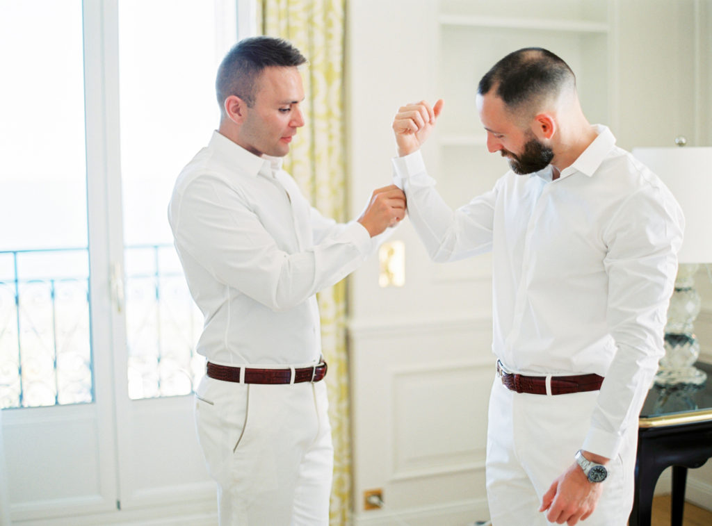 Grooms Getting Ready at the Grand Hotel du Cap Ferrat