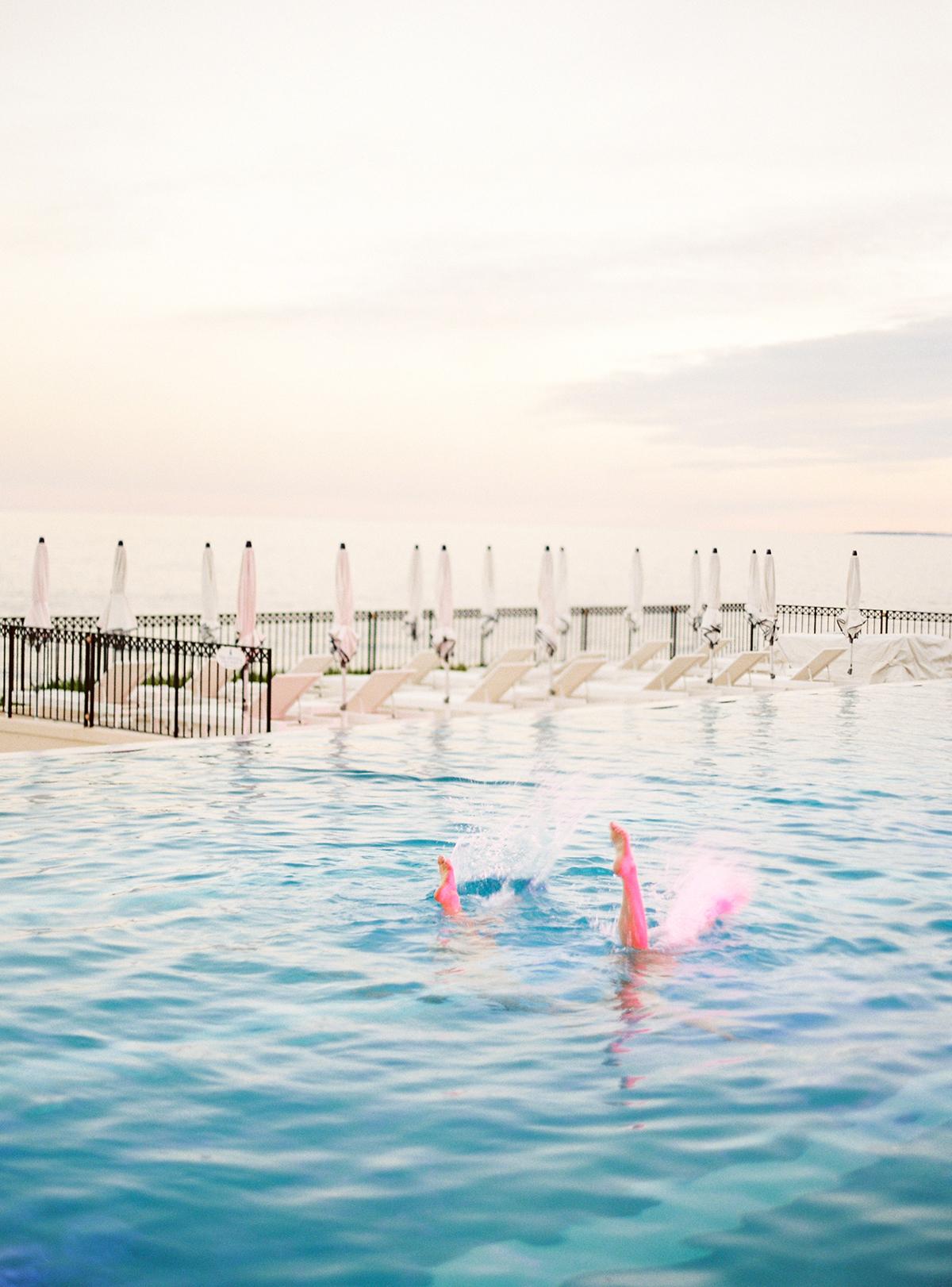 Grand-Hôtel du Cap-Ferrat Wedding with Synchronized Swimmers