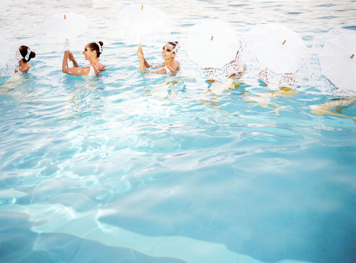 Grand Hôtel du Cap-Ferrat Wedding with Synchronized Swimmers
