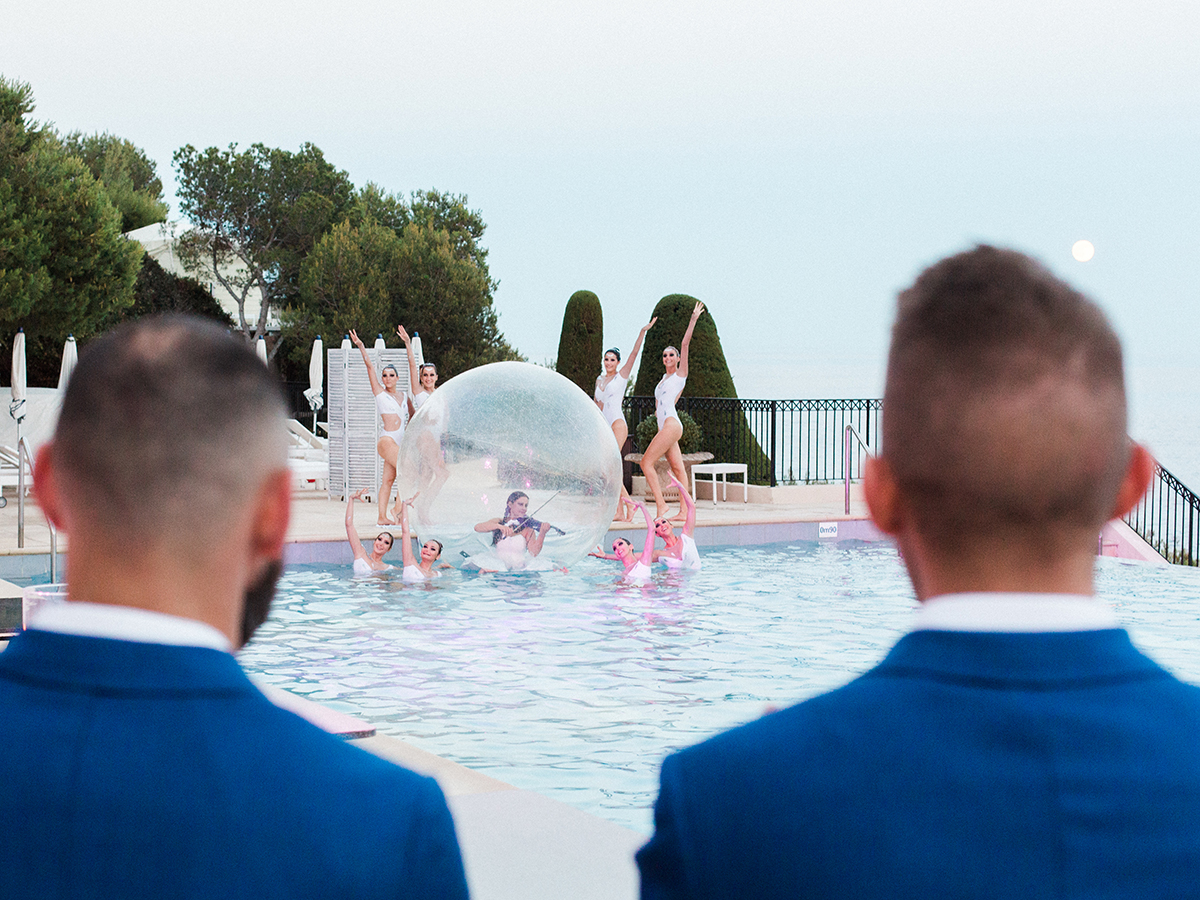 Grand-Hôtel du Cap-Ferrat Wedding with Synchronized Swimmers