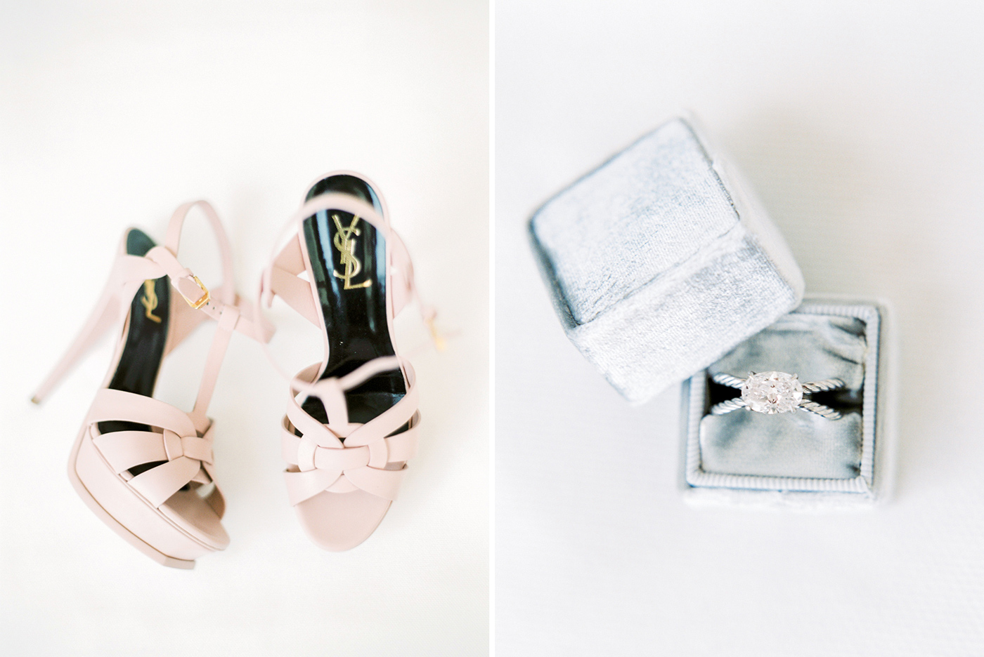 YSL Wedding Shoes & David Yurman engagement ring