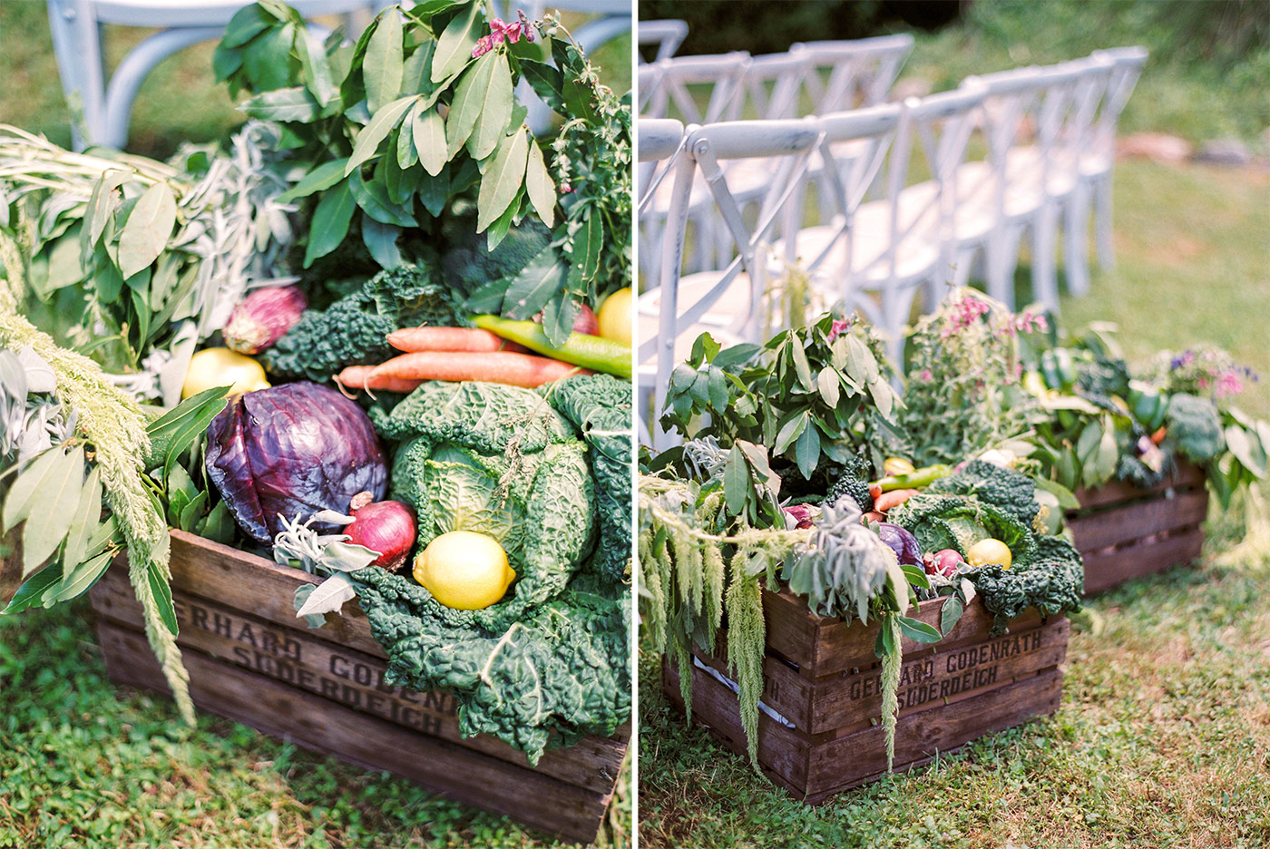 Fresh Vegetables as Wedding Styling