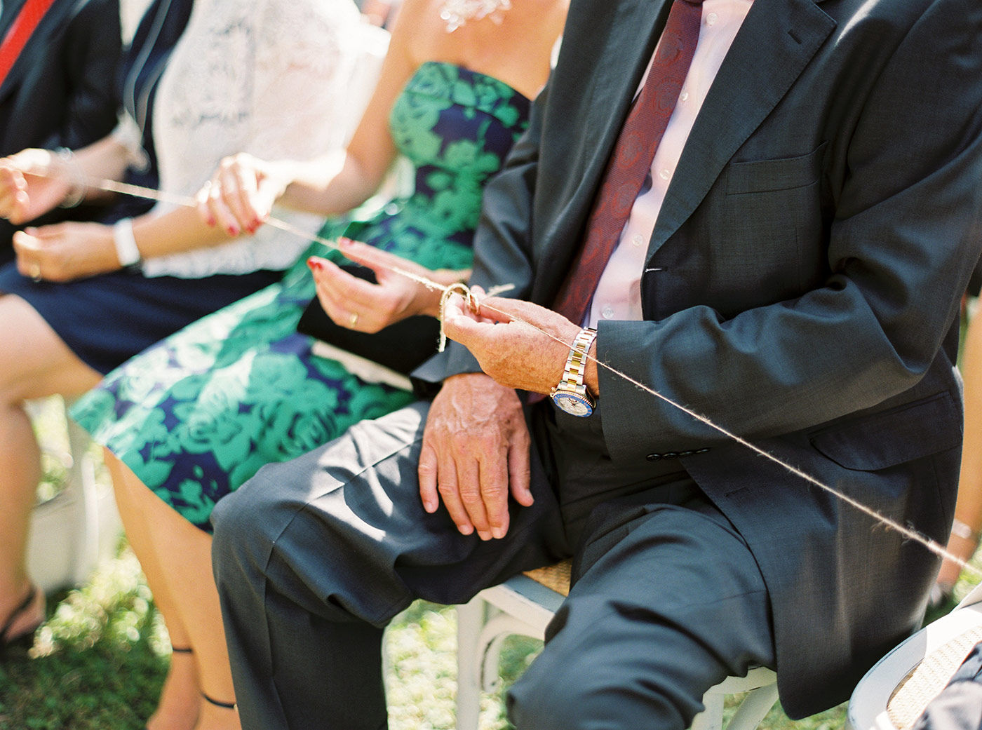 Ring blessing during the wedding ceremony