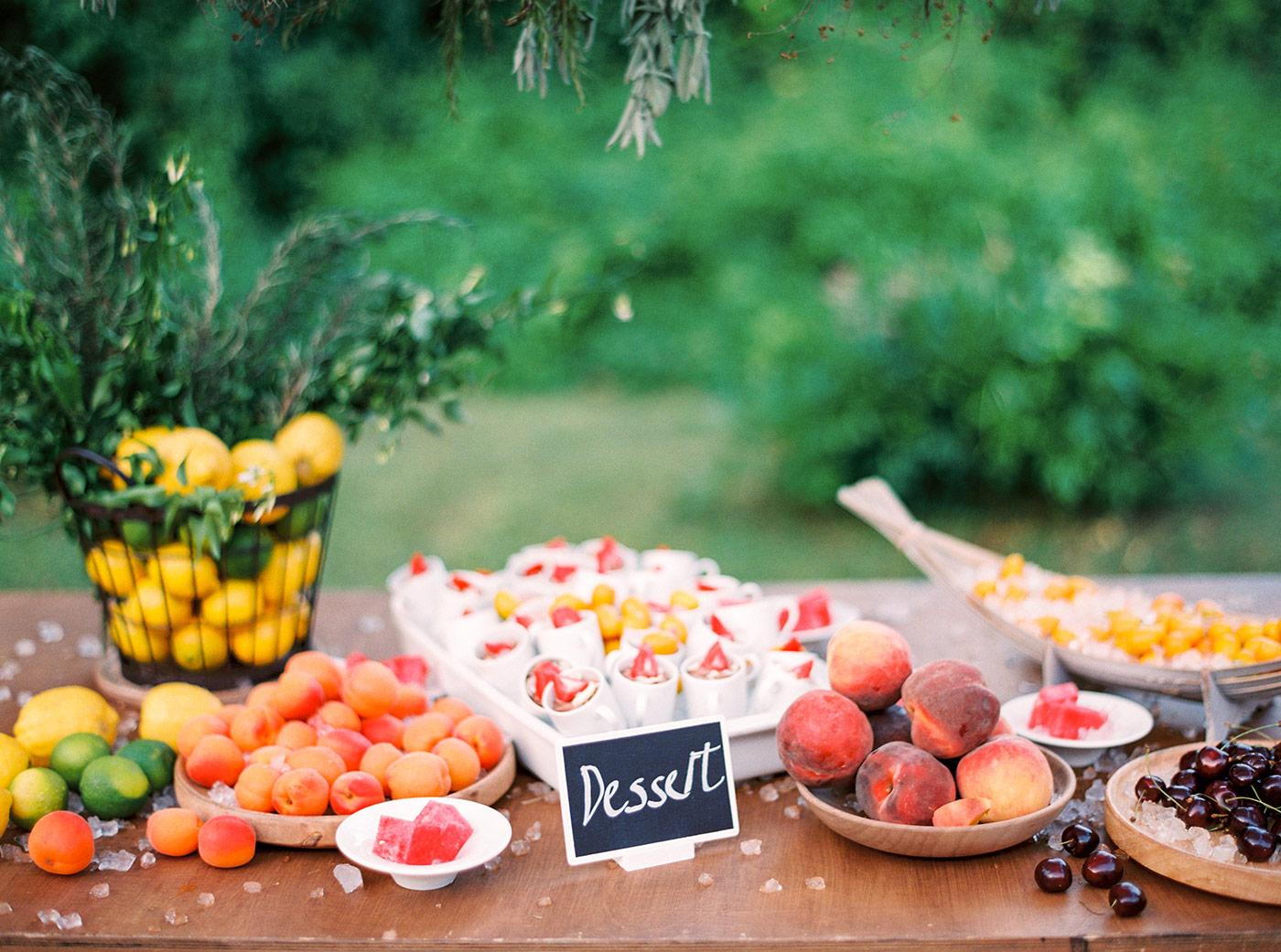 Market Style Wedding Buffet