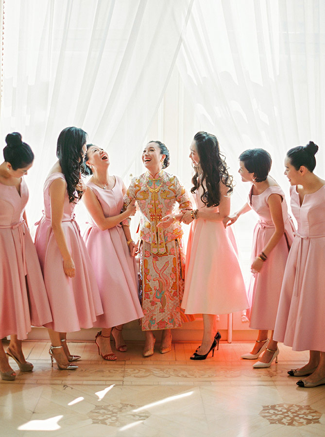 Bride & her Bridesmaids getting ready at Hotel Imperial Vienna