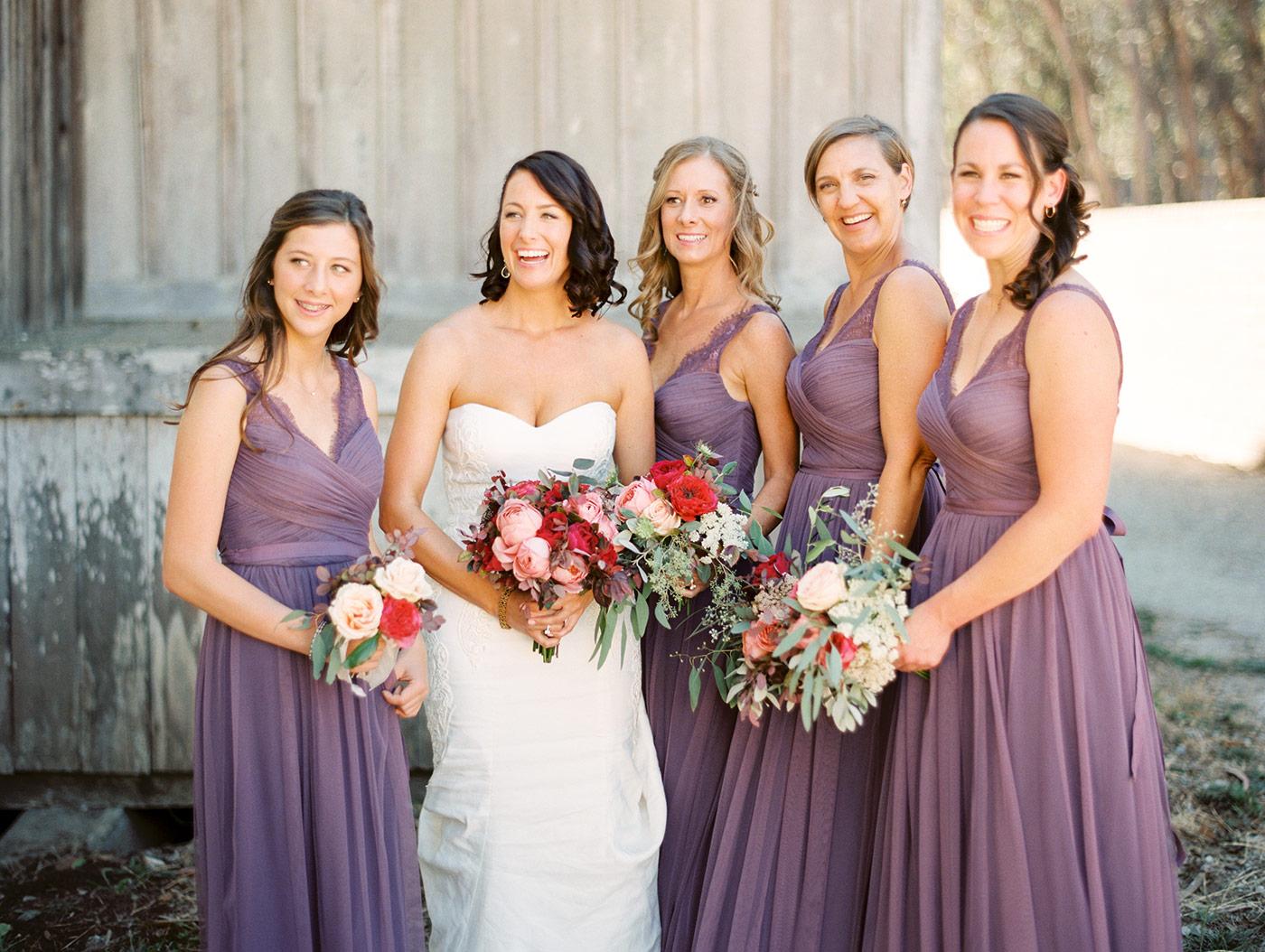 Bride & Bridesmaids before wedding