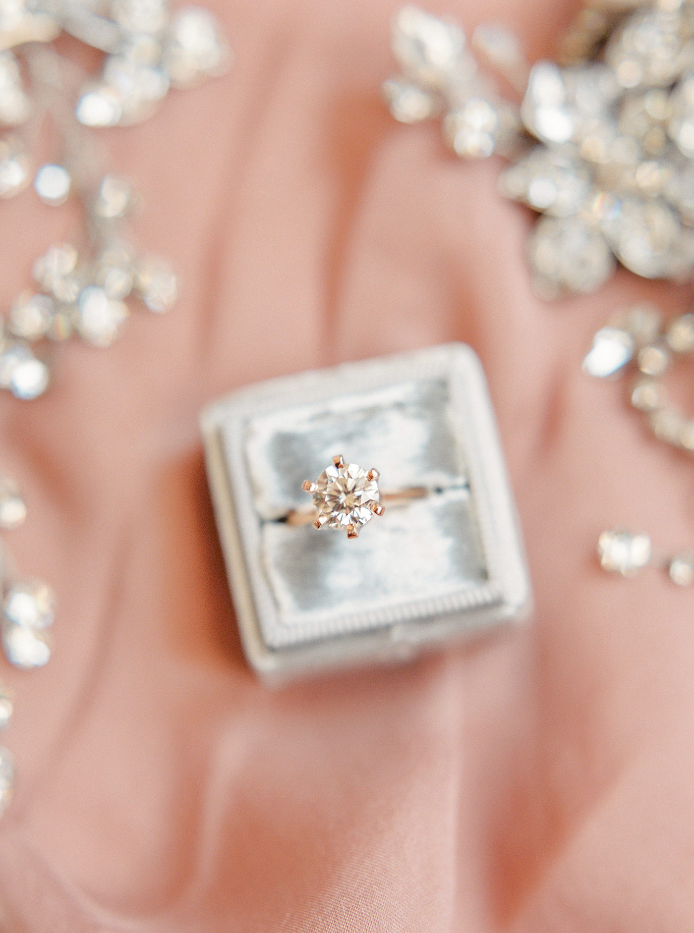 Bride's Engagement Ring and Accessories for her Wedding