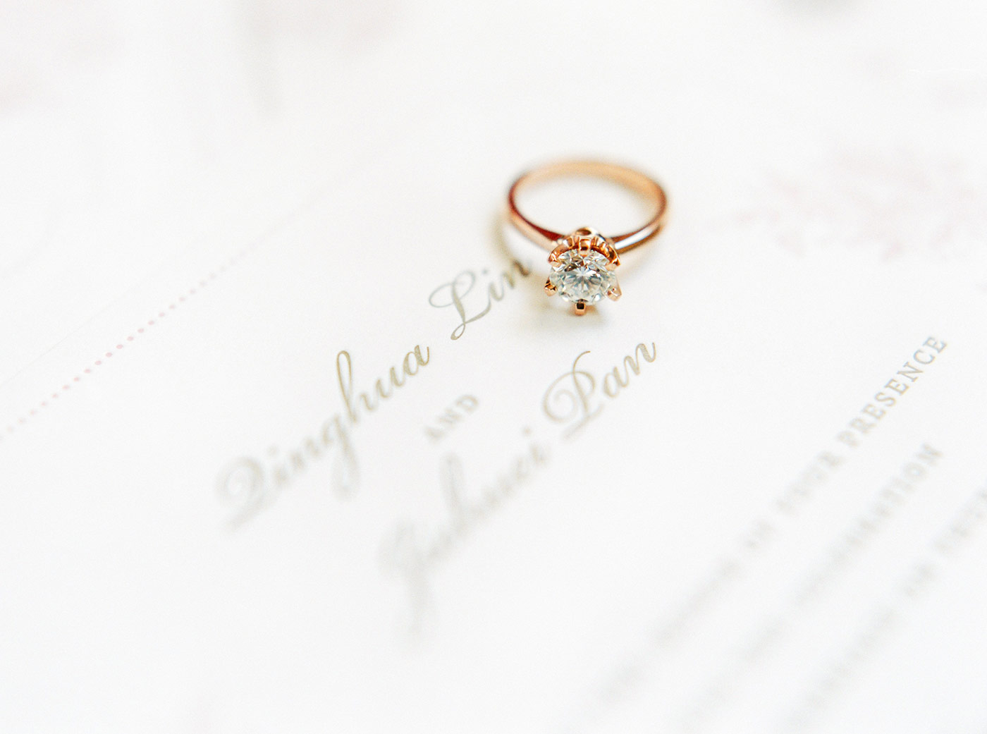 Bride's Solitaire Engagement Ring