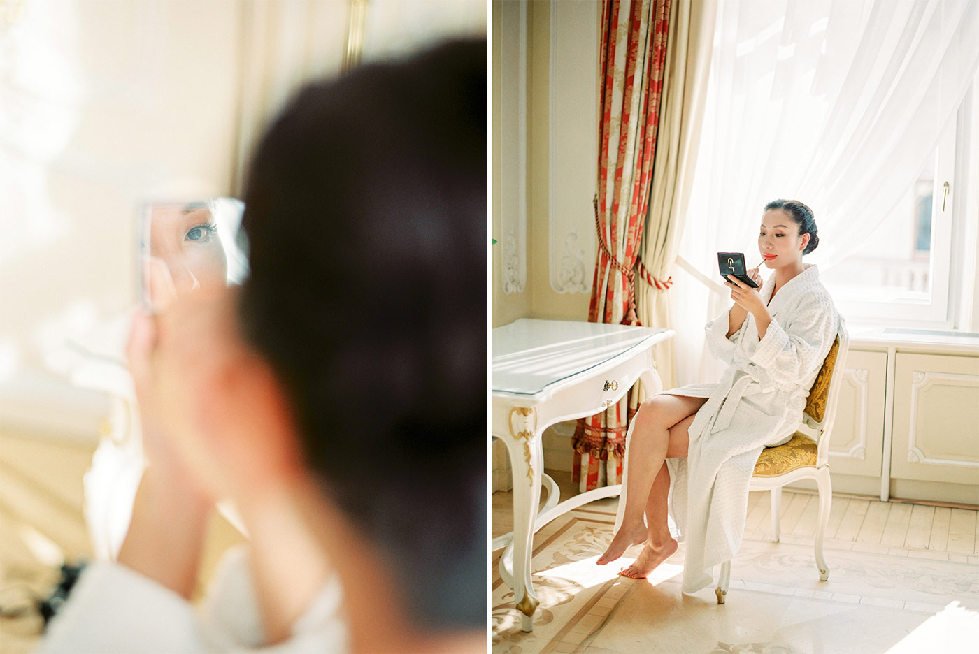 Bride Getting Ready Hotel Imperial Vienna Wedding