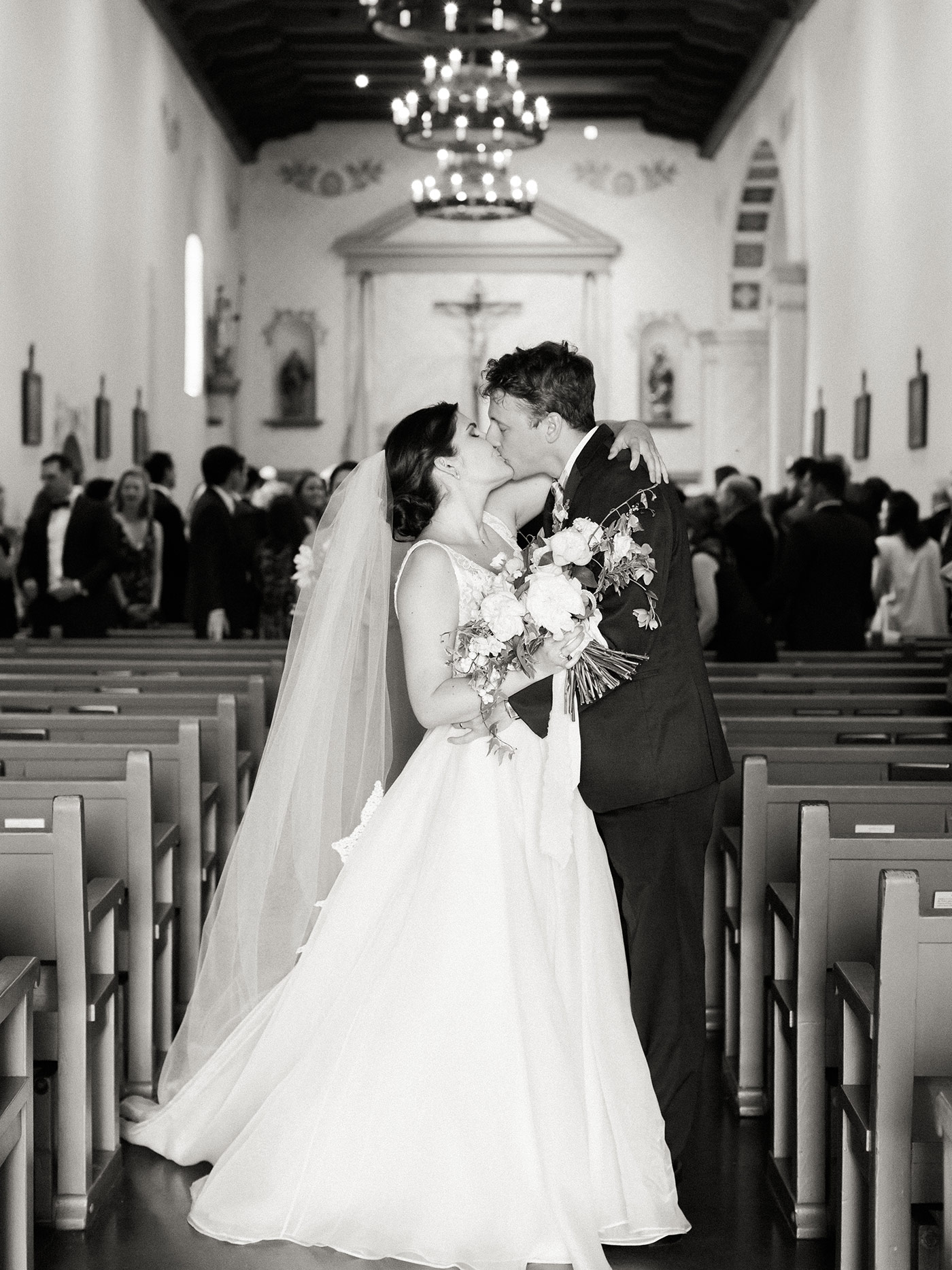 San Luis Obispo Mission Wedding photographed by Ashley Ludaescher Photography