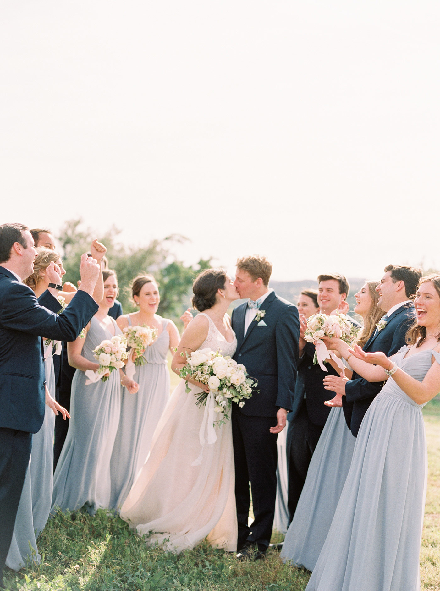 Bride and Groom and Bridal Party Fine Art Film Wedding Photographer San Luis Obispo California Ashley Ludaescher Photography