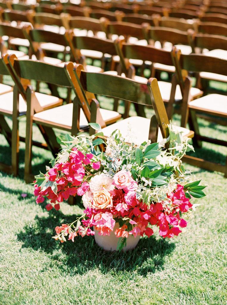 Bougainvillea Wedding Ceremony Arch