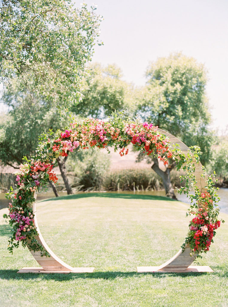 Bougainvillea Wedding Ceremony Arch