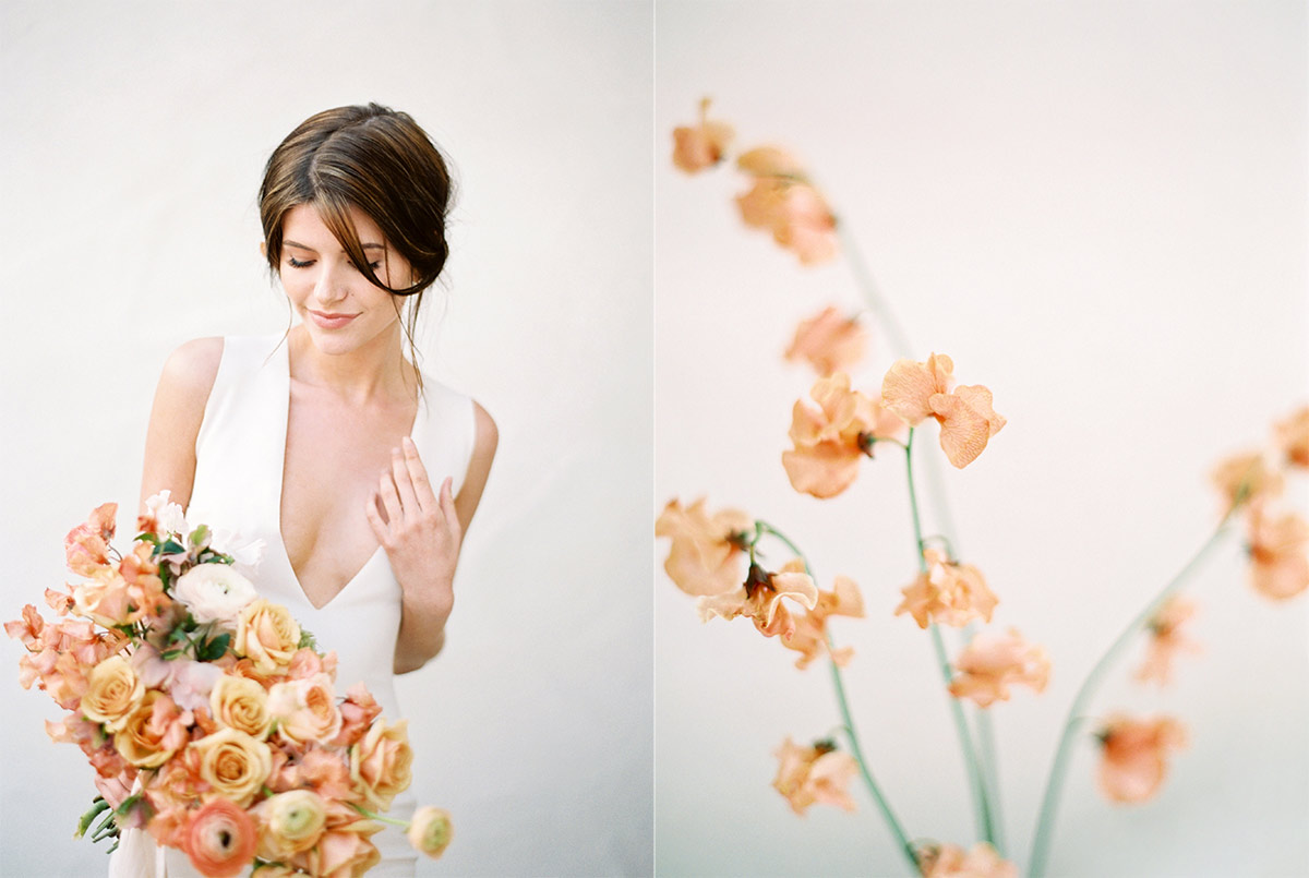Rose Gold Minimal Beauty Fine Art Wedding Photography Los Angeles