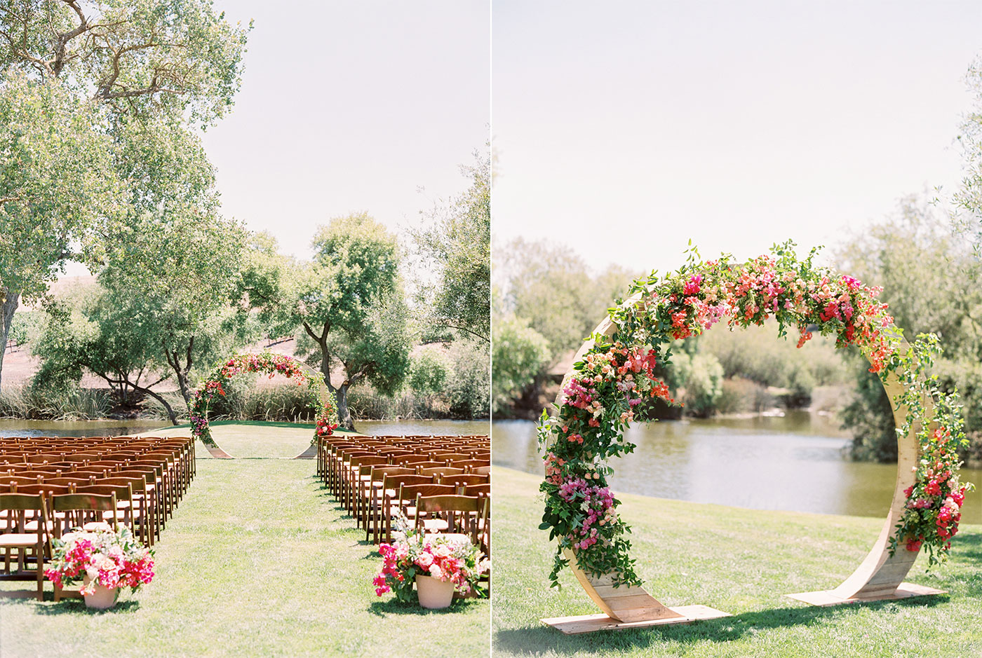 Ceremony Arch with Bougainvillea