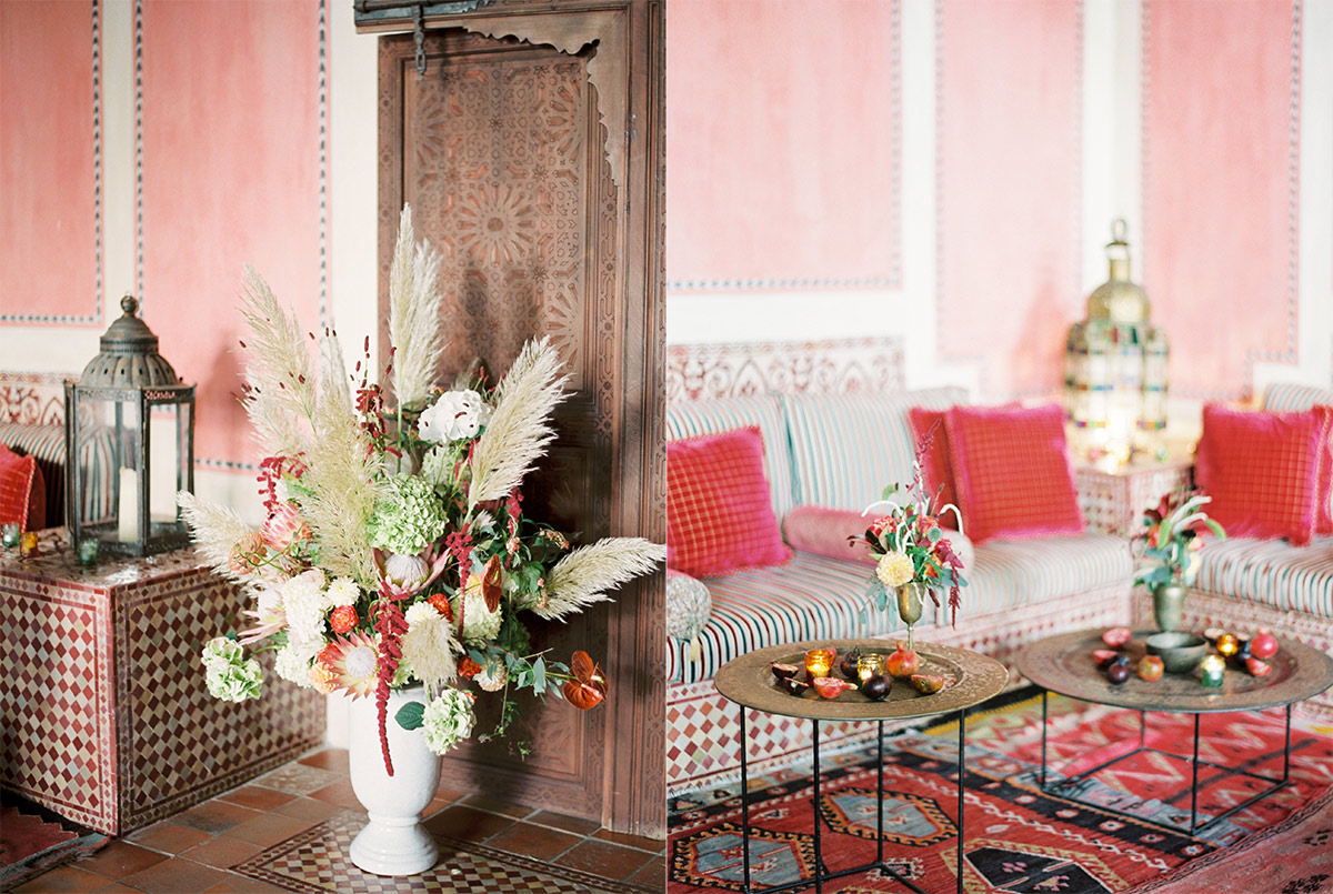 Moroccan Inspired Welcome Dinner Wedding Photography Finca Cortesin Marbella Spain