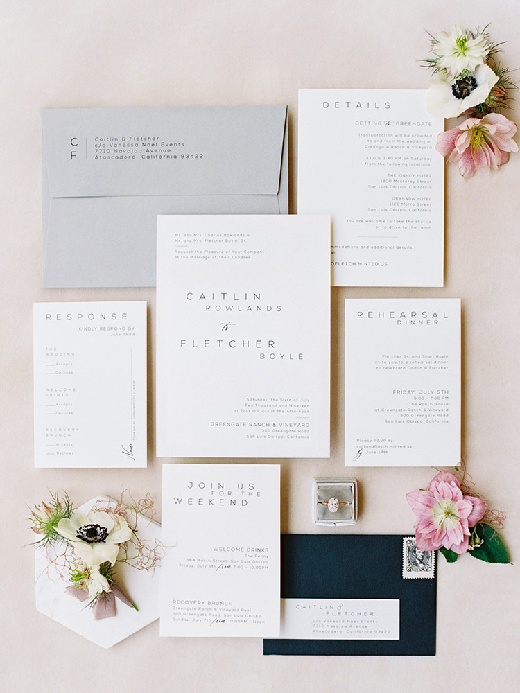 Organic Neutral Toned Modern Wedding Invitation