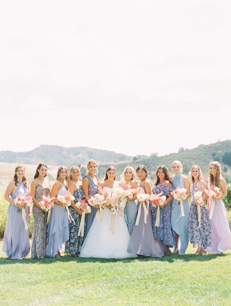 Lilac iridescent pink modern wedding greengate ranch vineyard lovelyfest event design ashley ludaescher