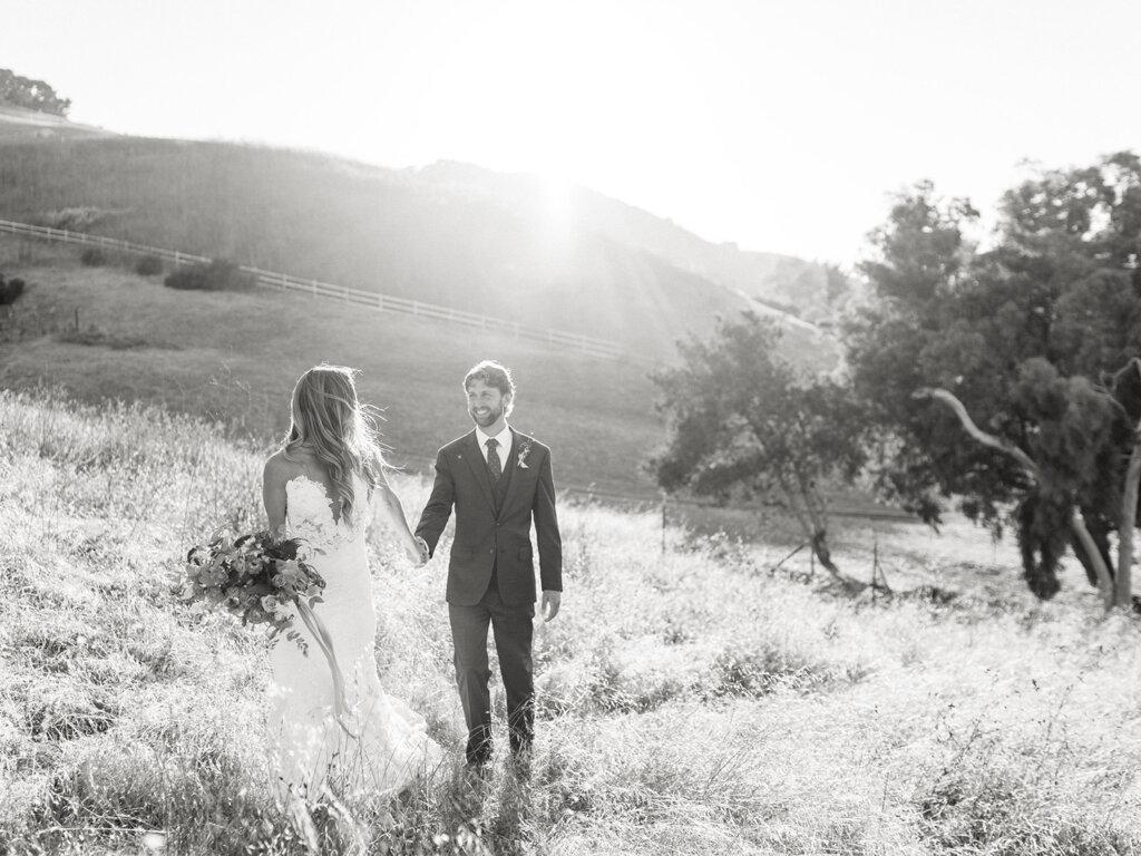 Intimate Edna Valley Vineyard Wedding Film Photographer